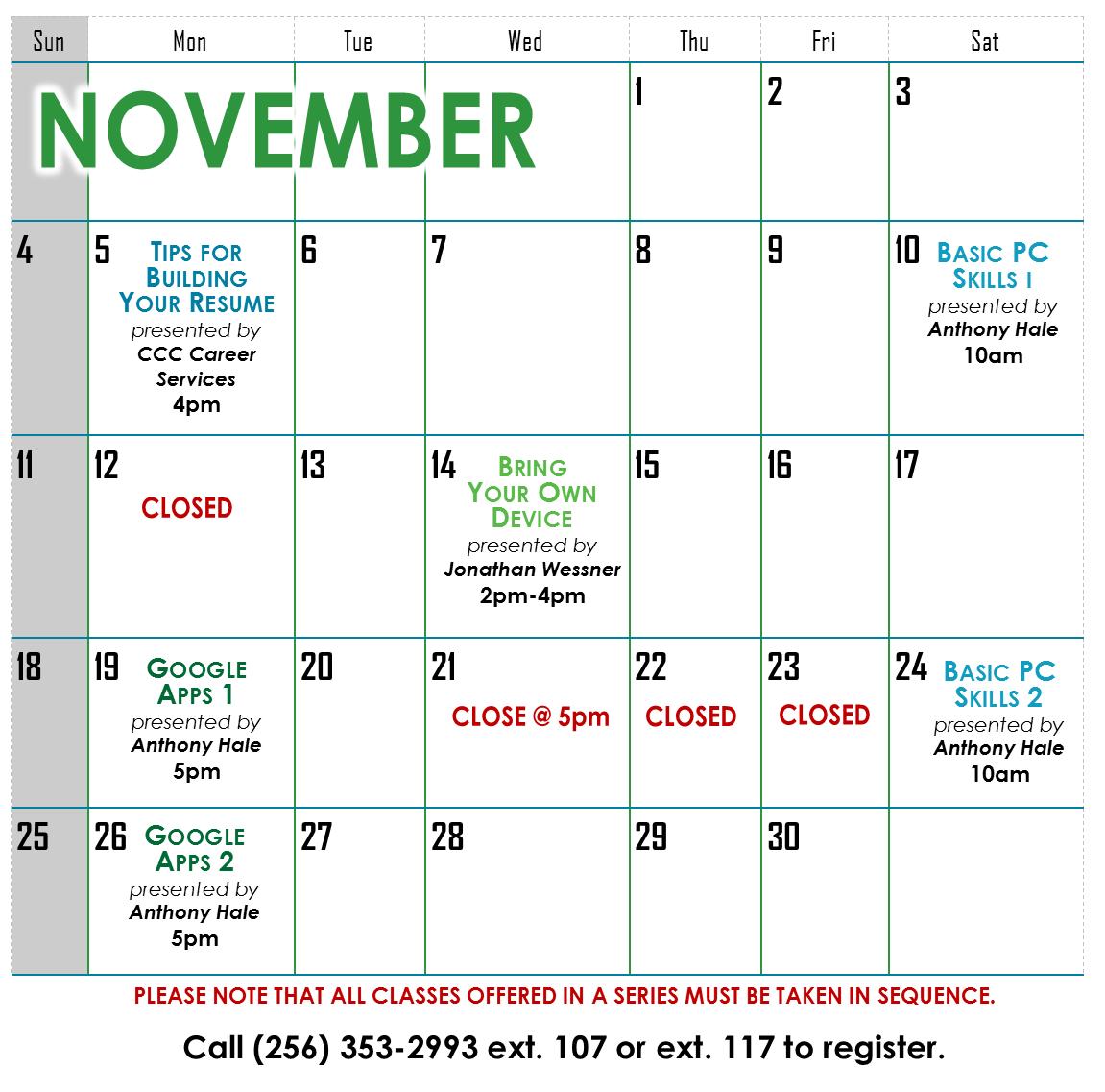 NOV2018 Calendar for website