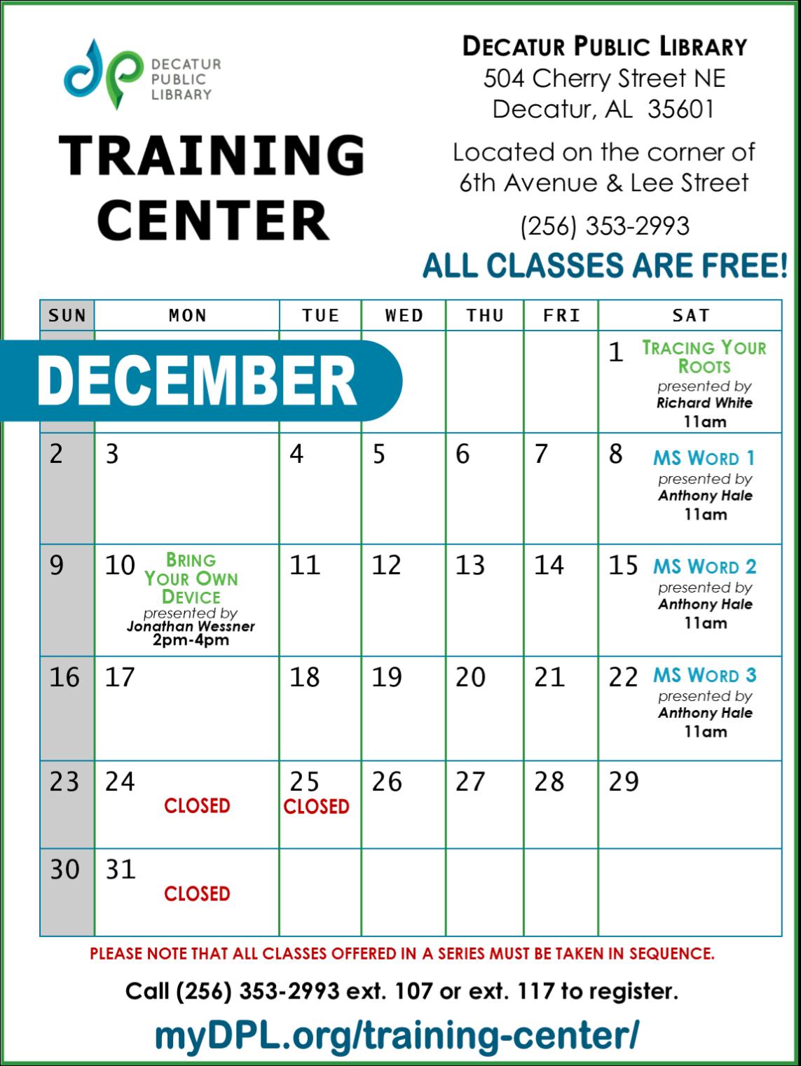 TC Calendar DEC2018