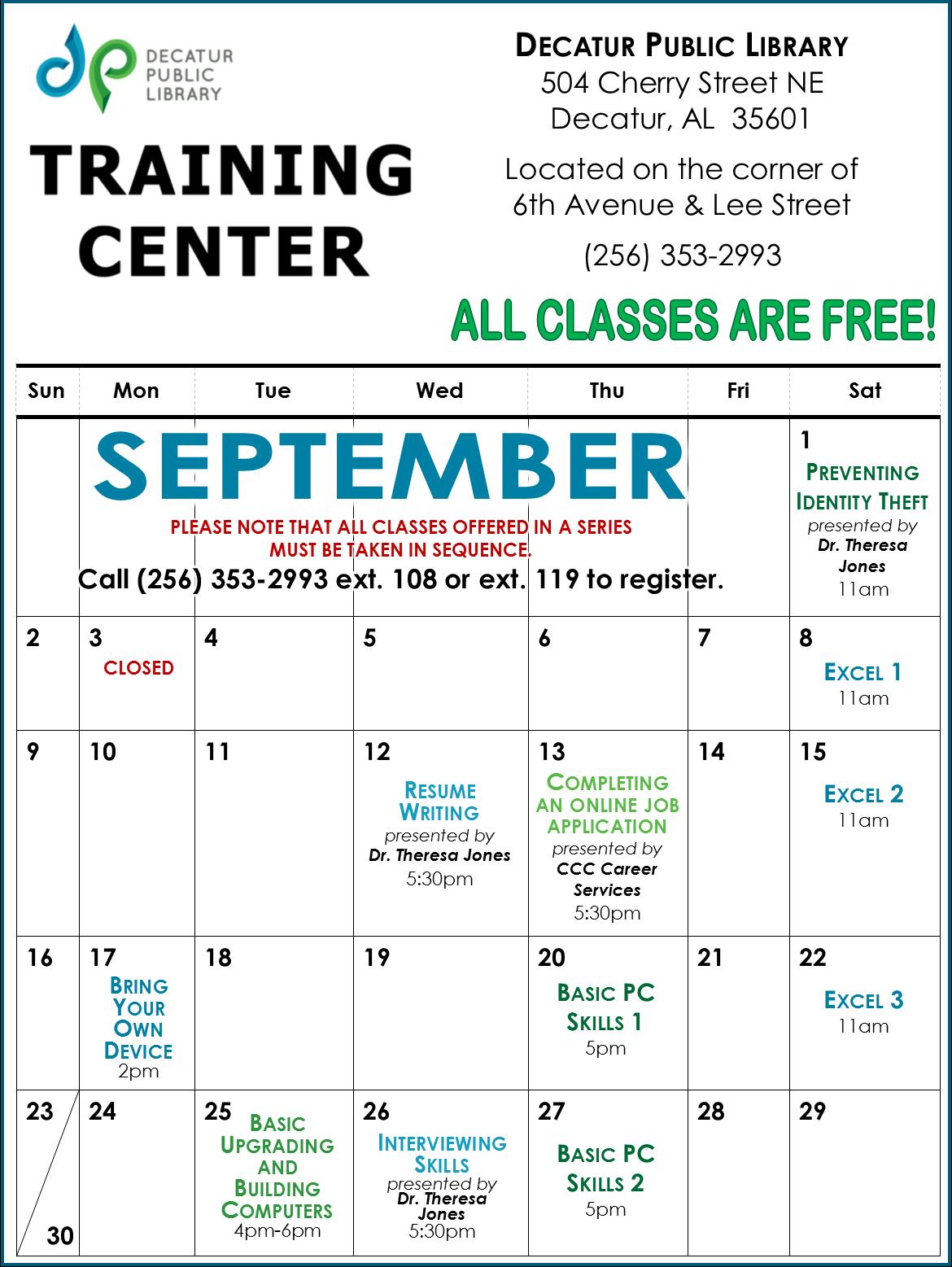TC September Calendar